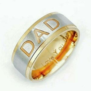"""Dad Ring Engraved """"Love you Dad"""""""